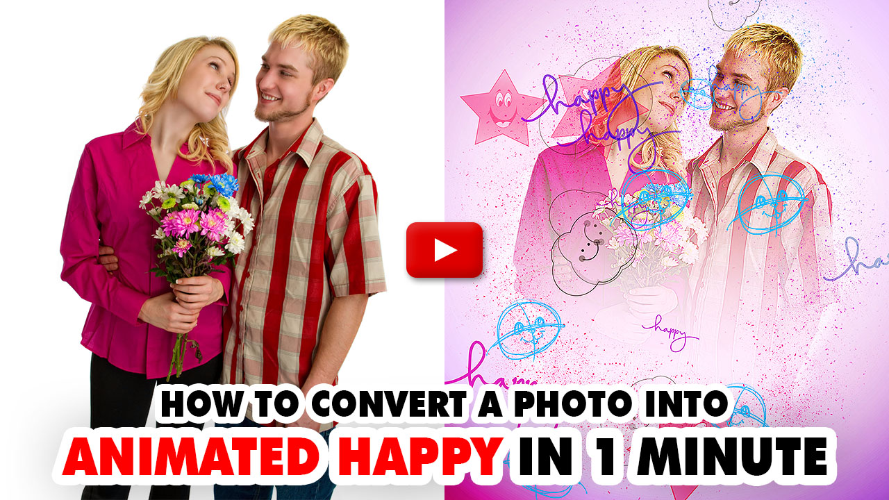 Animated Happy Photoshop Action
