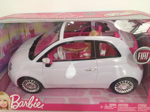 barbie fiat 500 a little car for my girls lils flickr. Black Bedroom Furniture Sets. Home Design Ideas