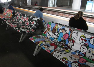 IKEA seat covers, Southern Cross Station | by Daniel Bowen