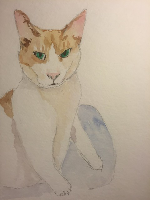 Watercolor of Goldie