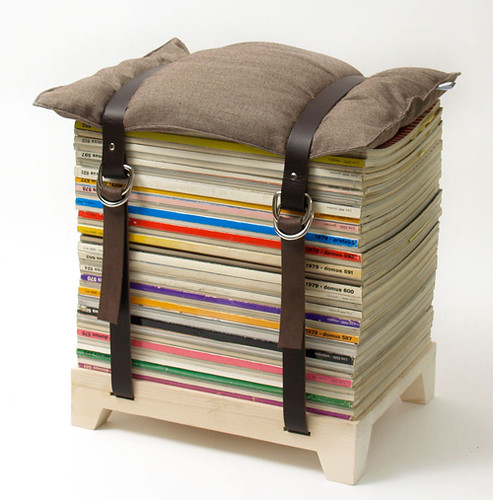 magazine stool | by the style files