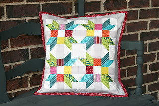 Poinsettia Pillow ~ Project for Quilt Camp | by Fresh Lemons : Faith
