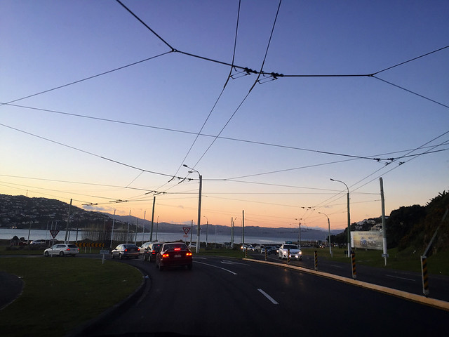 Sunset near Wellington Airport