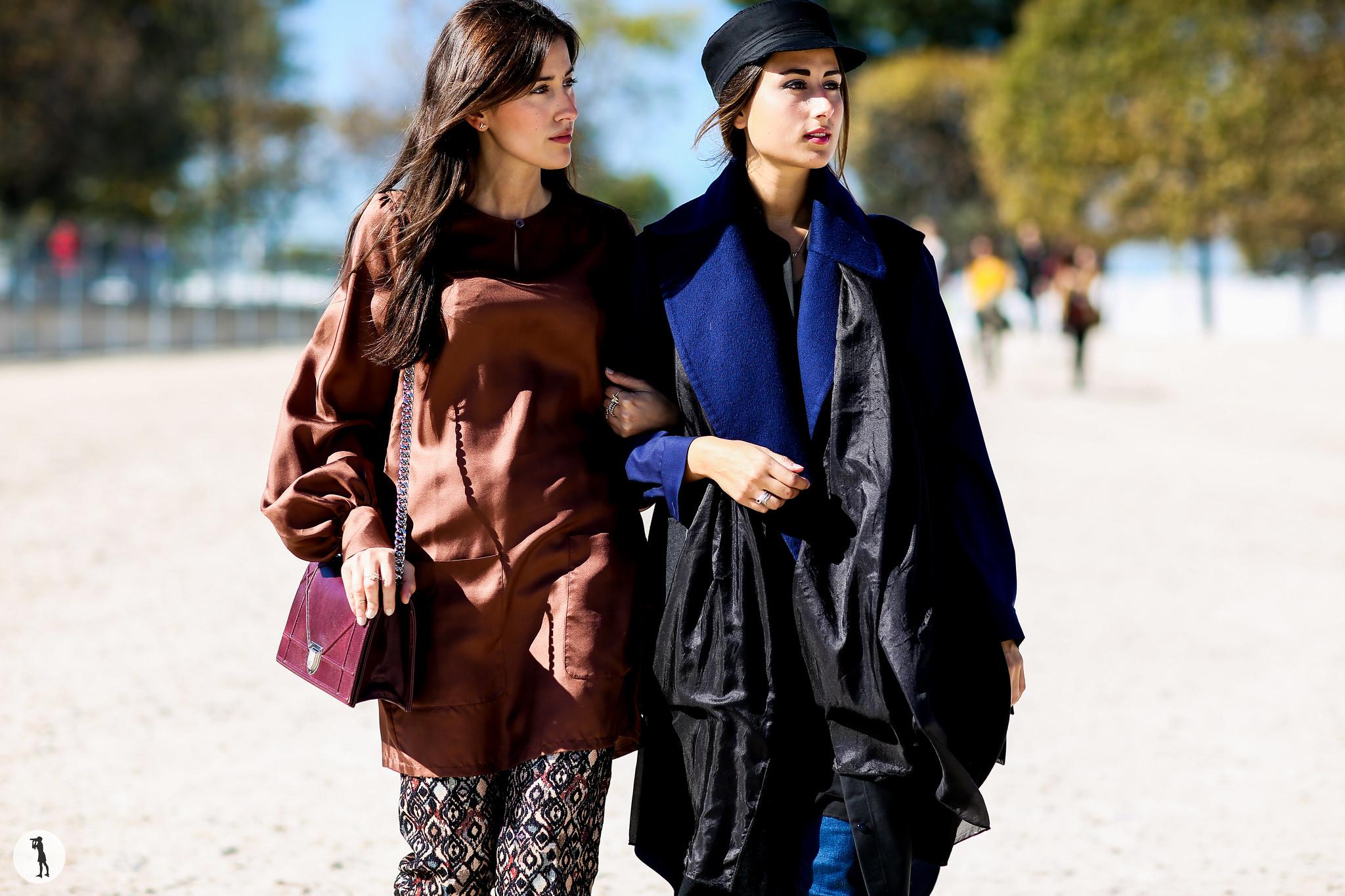 Sisters Sylvia and Julia Haghjoo at Paris Fashion Week-2