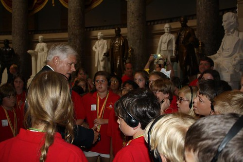 Congressman Sessions with McCulloch Intermediate School students in the US Capitol | by Congressman Pete Sessions
