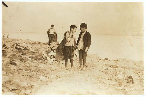 "Boys picking over garbage on ""the Dumps."" Boston. See 906-907.  Location: Boston, Massachusetts. (LOC) 