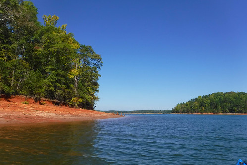 Paddling to Ghost Island in Lake Hartwell-72