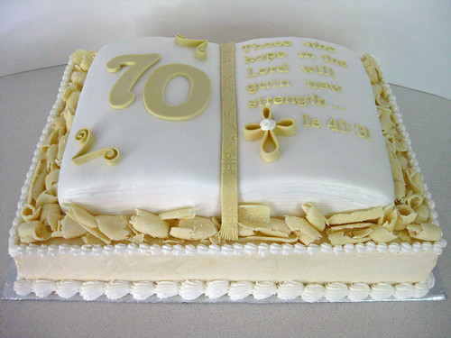 70th Birthday Cake For A Former Pastor Chocolate Cake
