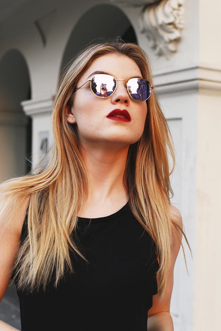 ray-ban hexagonal, ray-ban, de bijenkorf, zonnebril, avondzon, arnhem, fashionblogger, heater, terras, gekke vormen, zeshoekig, quay australia, herfst, zomer, designer zonnebril, ray-ban zonnebril