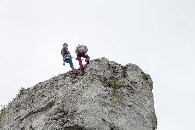 Climbing in Zborów Mount - Jura, Poland
