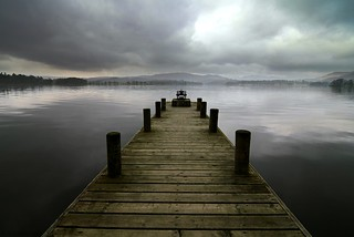 Jetty on Lake Windermere, Lake District, England | by Marxart