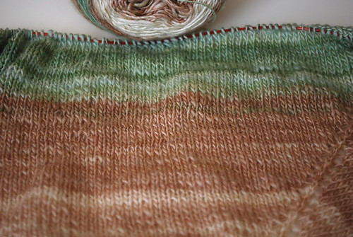 Handspun Lace Shawl in progress | by Herb Knitter