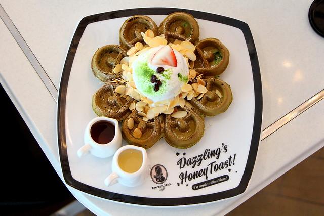 Dazzling Cafe Matcha Azuki Beans Waffle