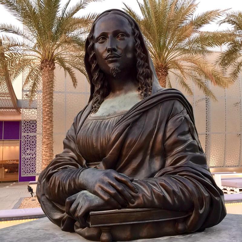 Mona Lisa with mustache, Saadiyat Island, Abu Dhabi