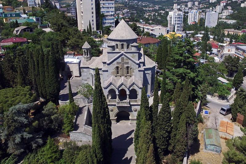 Yalta, S. Hripsime, aerial view