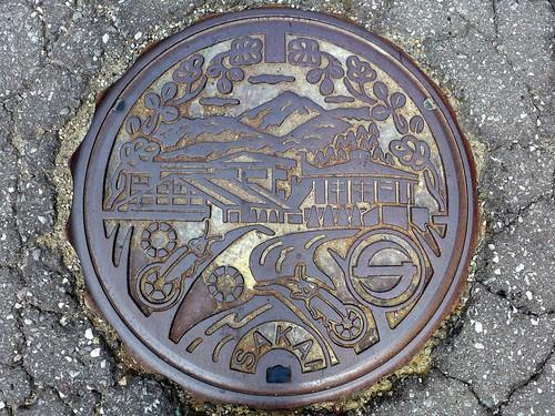 sakai Nagano, manhole cover (長野県坂井村のマンホール)