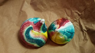 Rainbow Meringues from CFS