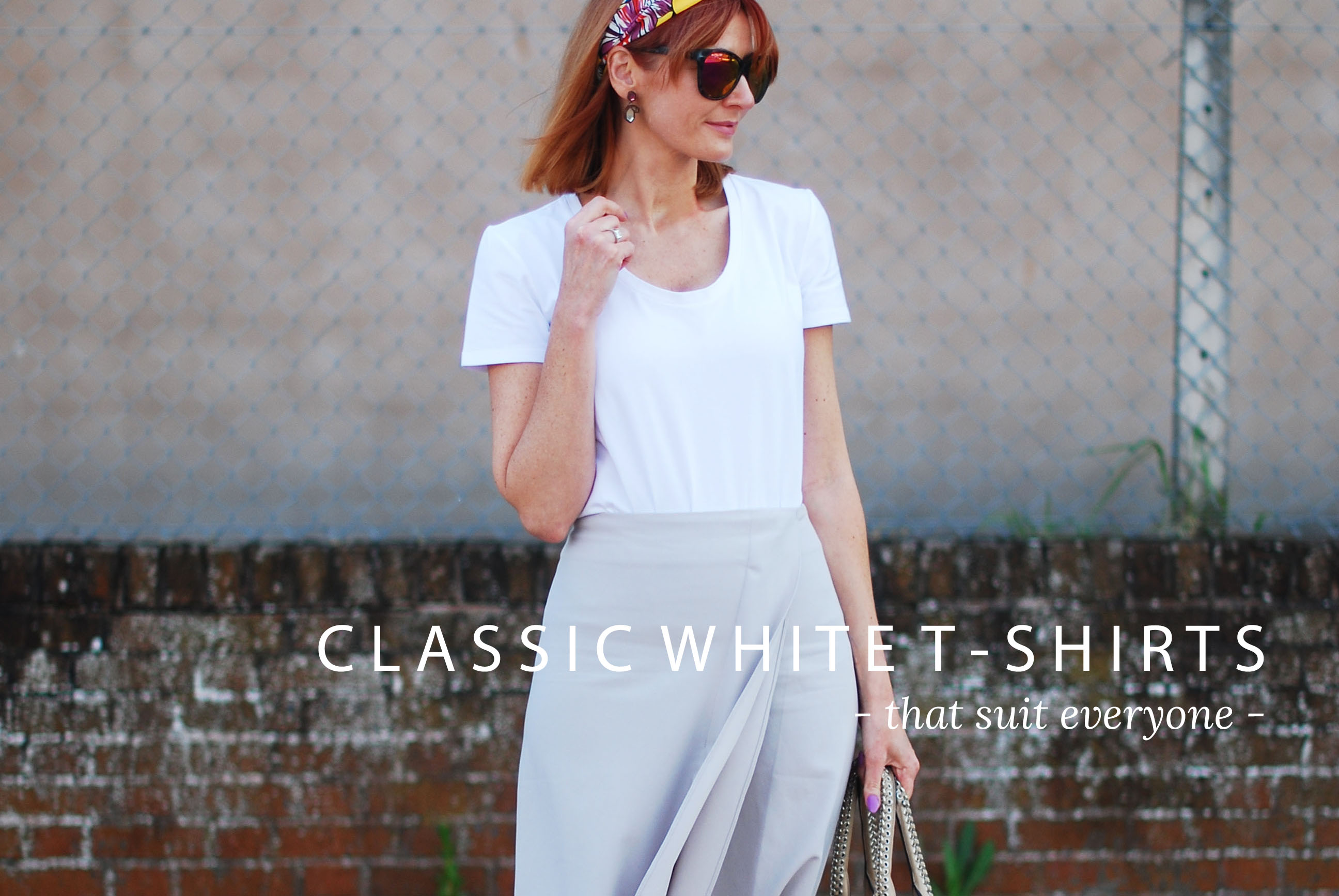 Capsule Wardrobe Pieces That Suit All Body Shapes & Sizes - No.4 Plain White Tee (9 Classic White T-Shirts)