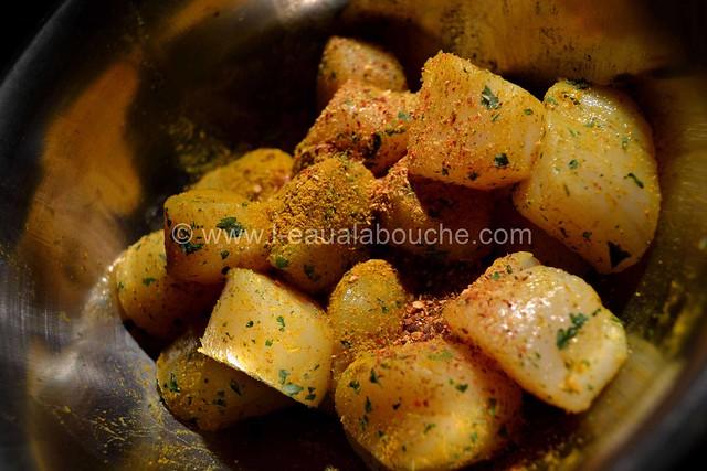 Noix de St Jacques  Gratinées Parfumées au Curry © Ana Luthi Tous droits réservés 04