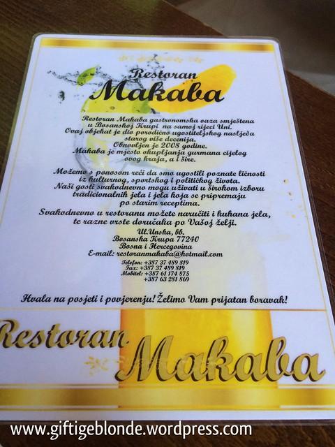 Restorn Makaba, Bosanska Krupa