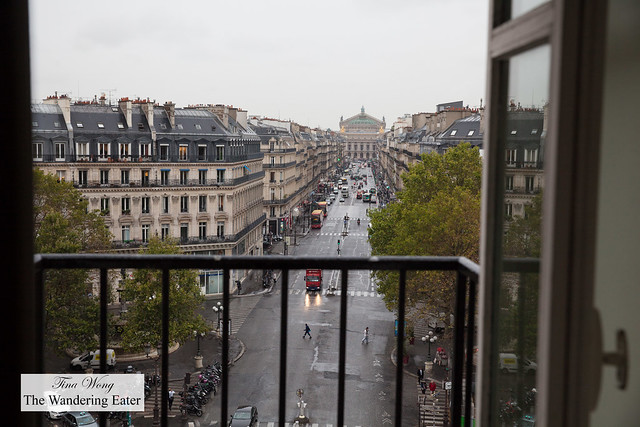 View from the room facing Avenue de l'Opéra