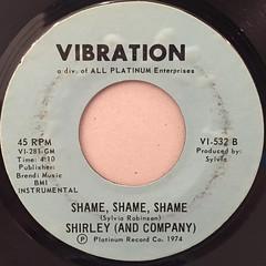 SHIRLEY (AND COMPANY):SHAME,SHAEM,SHAME(LABEL SIDE-B)