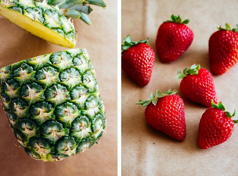 pineapple strawberries