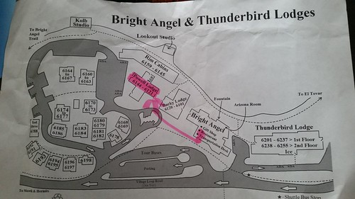Bright Angel Lodge Map