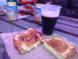 Mac and cheese toastie at Summerhall