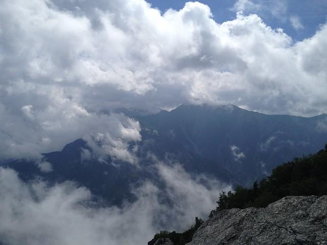 鳳凰山 観音岳から北岳