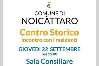Noicattaro. Incontro Centro Storico front