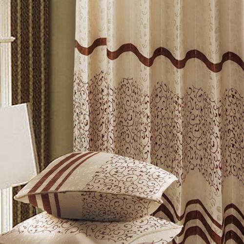 岩葉森林 絨面藤蔓 半遮光無接縫窗簾布 DA1890038