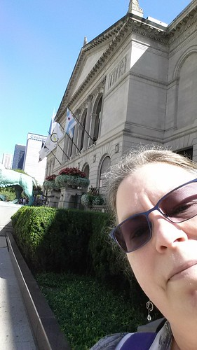 In front of the Art Institute of Chicago