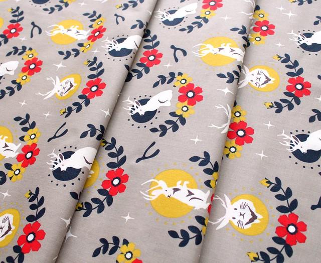 Birch Fabrics Tall Tales Jacklope Shroom