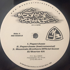 MOUNTAIN BROTHERS:PAPERCHASE(LABEL SIDE-A)
