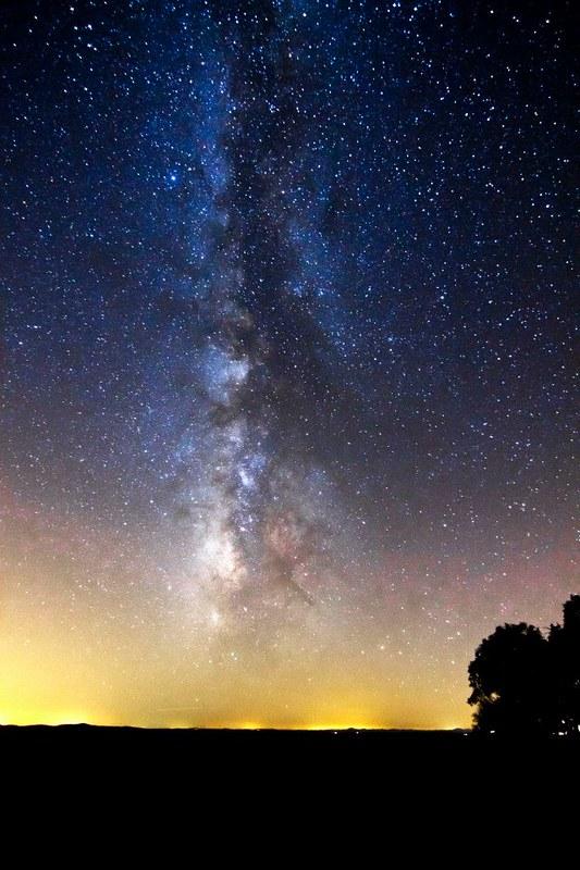 Cielo nocturno  Sierra Morena