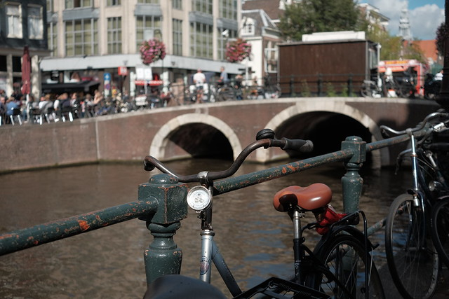 Bike at canal in Amsterdam 28