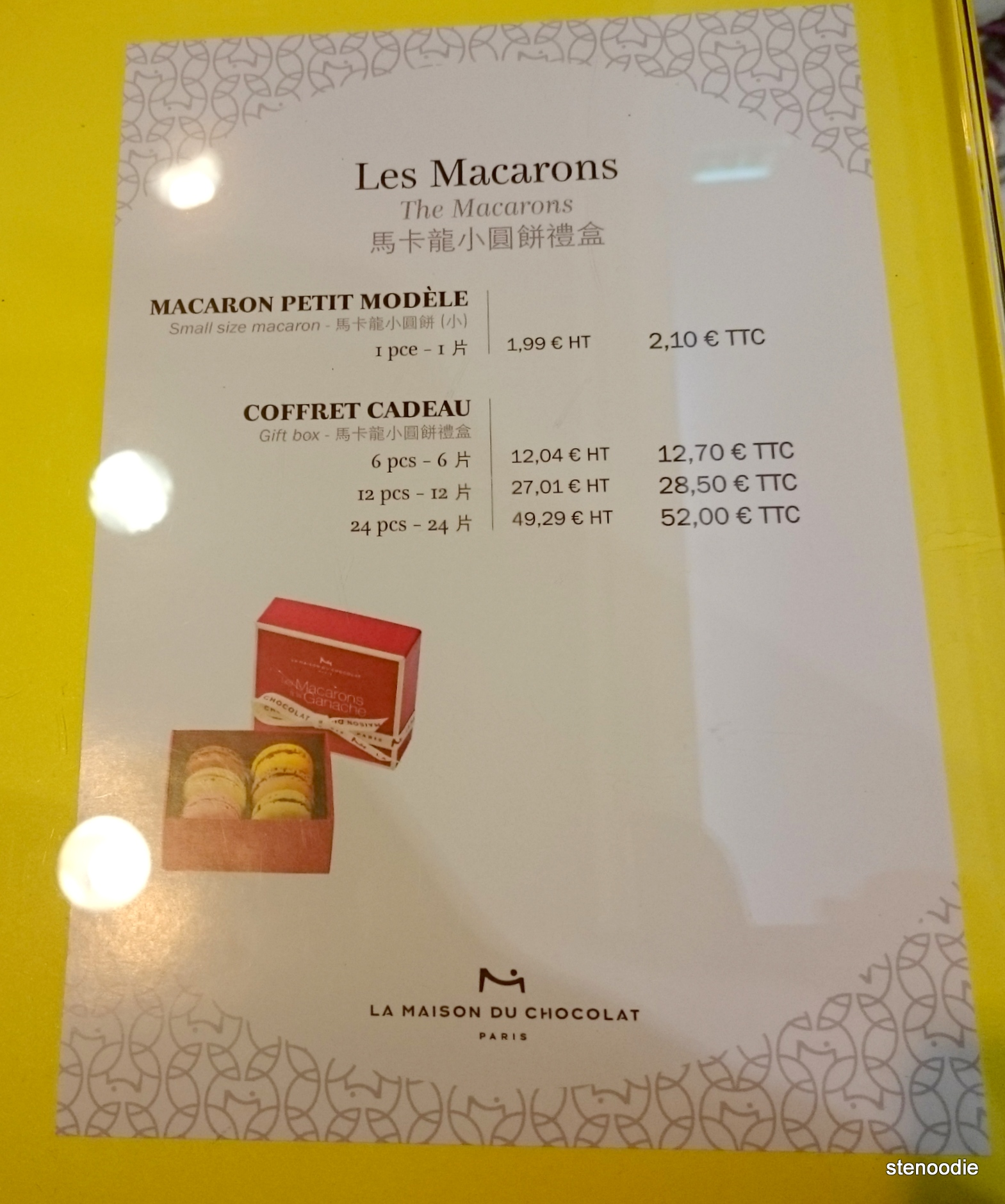 La Maison du Chocolat macaron prices