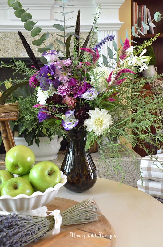 Fall Floral Arrangement - Animal Print - Lavender - Fall Vignette - Housepitality Designs
