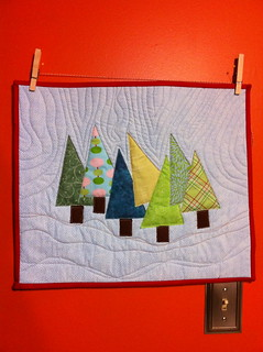 Happy Trees Mini Quilt | by Terry @ With a Cup and a Sword