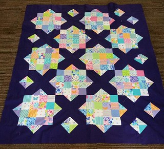 Goodnight Irene baby quilt made with 2 charm packs.
