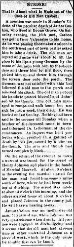 Vidette Microfilm Reports of James Death 1884 inverted