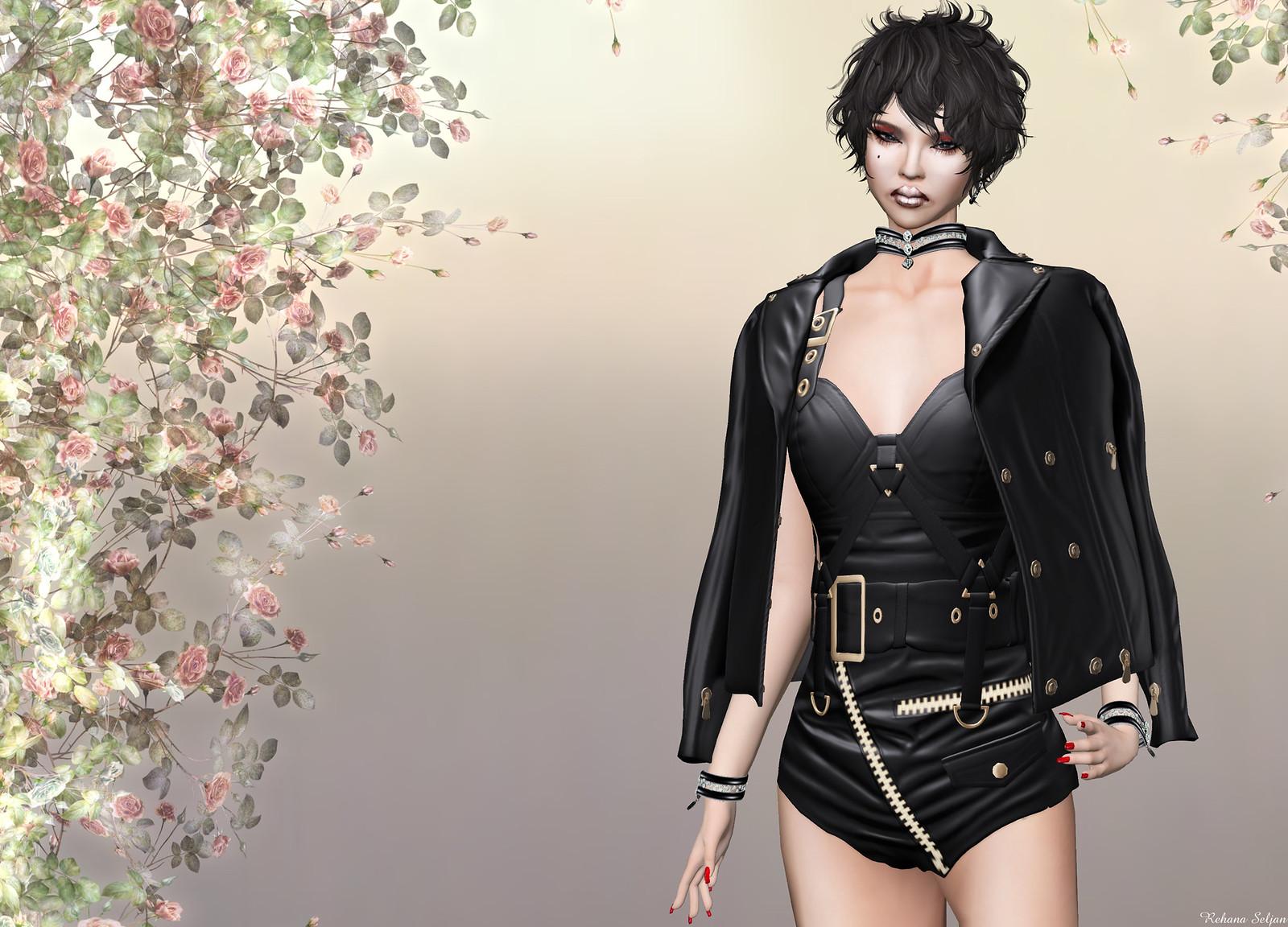 KELINI - Secy Leather Combi