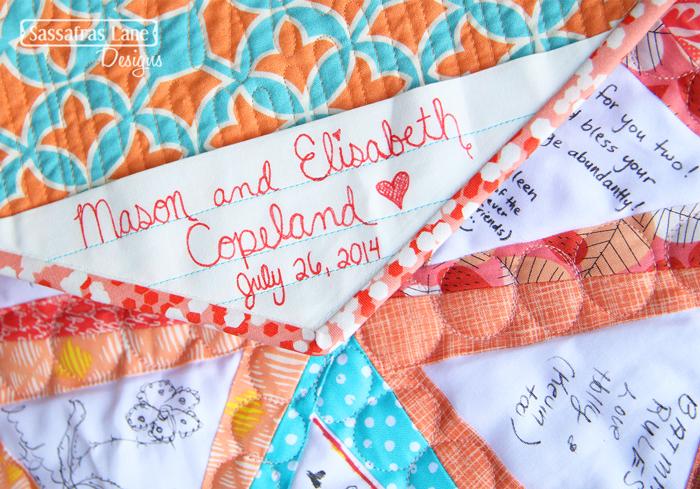 Liz & Mason's Wedding Quilt