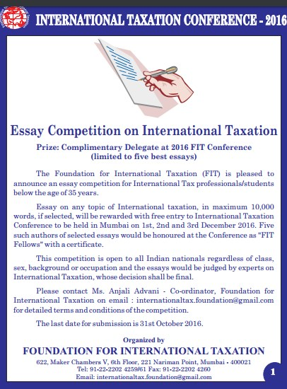 essay on international taxation Double tax treaties and their interpretation  need for tax treaties, part iii of the article describes how tax treaties are  of international taxation.