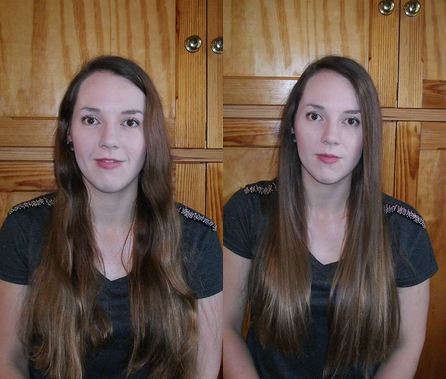 Before and After Diamond Hair Styler