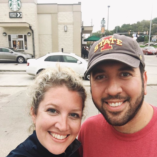 We escaped the house to get coffee #psl #starbucks #minidate