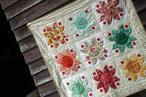 finished Lotus quilt