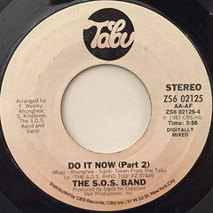 THE S.O.S. BAND:DO IT NOW(LABEL SIDE-B)
