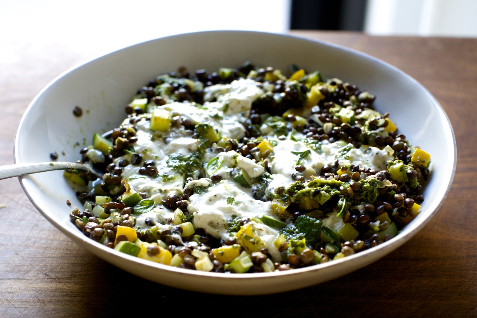 Smitten Kitchen burrata with lentils and basil vinaigrette – smitten kitchen